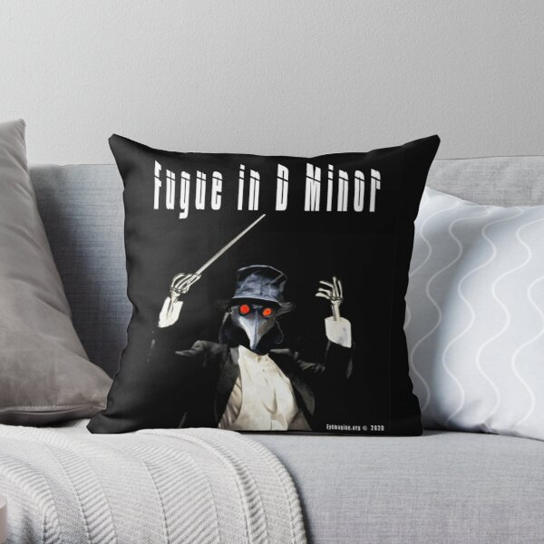 Fugue in D Minor Throw Pillow