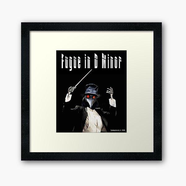 Fugue in D Minor Framed Art Print