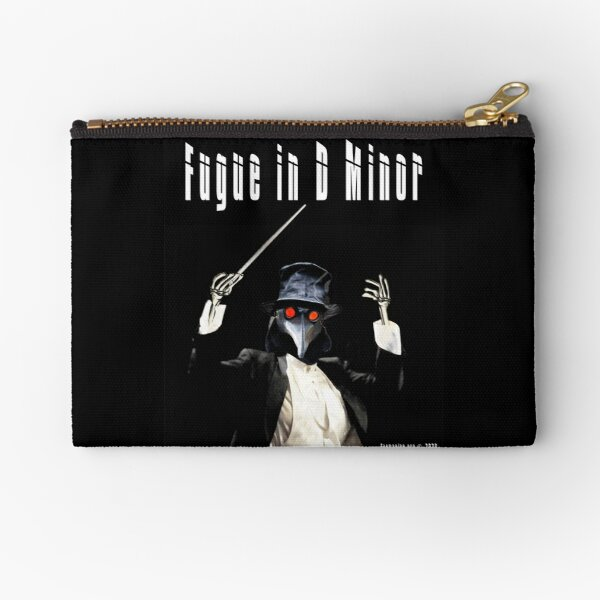 Fugue in D Minor Zipper Pouch