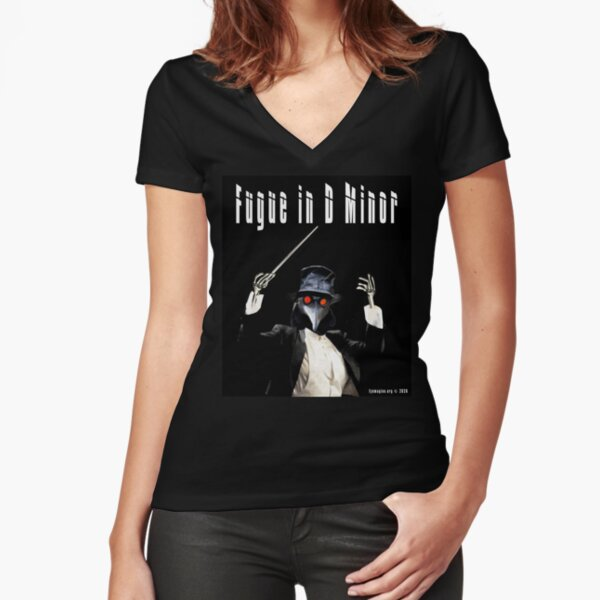 Fugue in D Minor Fitted V-Neck T-Shirt