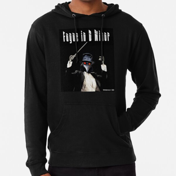 Fugue in D Minor Lightweight Hoodie