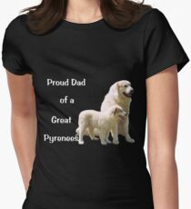 Great Pyrenees Proud Dad drk Womens Fitted T-Shirt