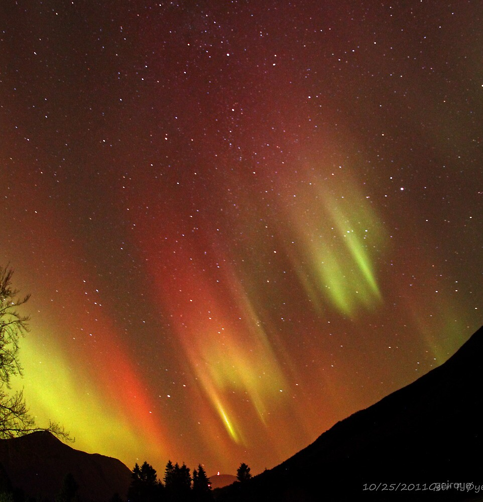 Colorful Auroras Dancing On The Celestial Ceiling  by geiroye