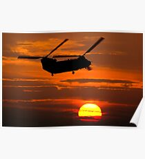 RAF Chinook sunset Poster