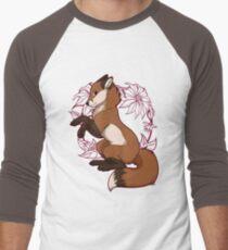 Red Fox Tee - Red Men's Baseball ¾ T-Shirt