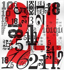 Numbers by Levis Poster