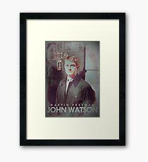 BBC Sherlock John Watson Poster & Prints (Martin Freeman) Framed Print
