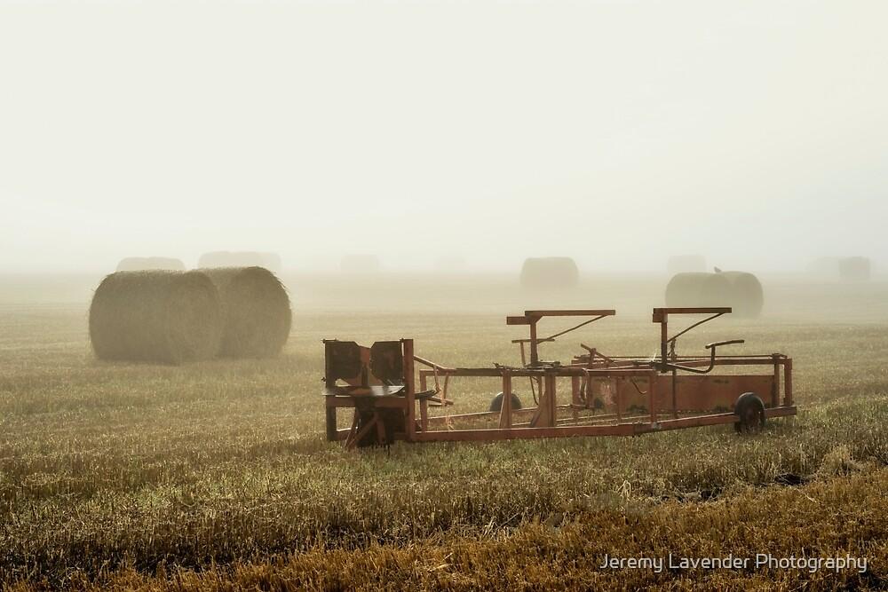 Misty Field by Jeremy Lavender Photography