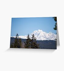 Eastern Washington Snow Obstacles  Greeting Card