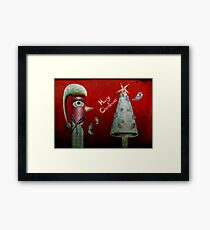 Pinguino de la Navidad Framed Print