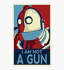 I am not a gun Photographic Print