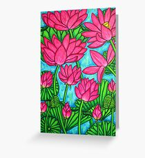 Lotus Bliss Greeting Card