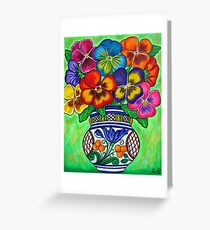 Pansy Parade Greeting Card