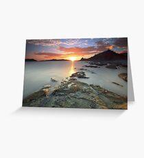 Sisiman Bay Sunset Greeting Card