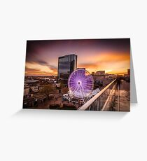 Birmingham Wheel at Christmas Greeting Card