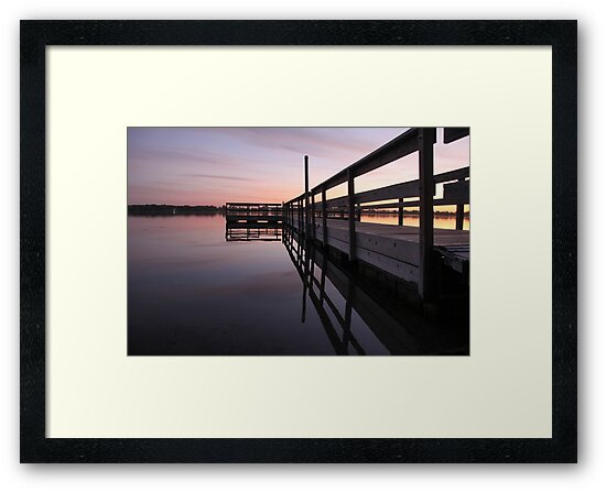 Dock Reflections at Sunset by Gary Horner