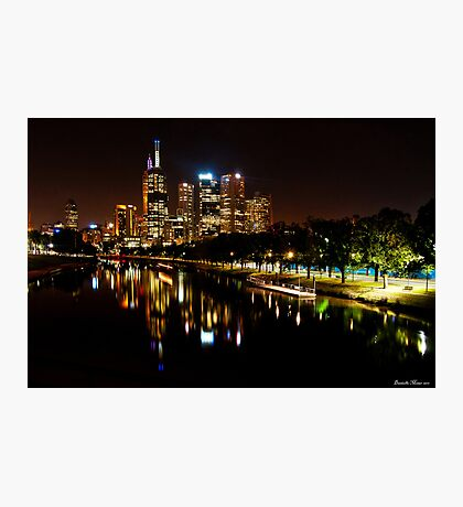 Swan Street City View Photographic Print