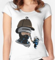 Robo Holmes (Full Color) Women's Fitted Scoop T-Shirt