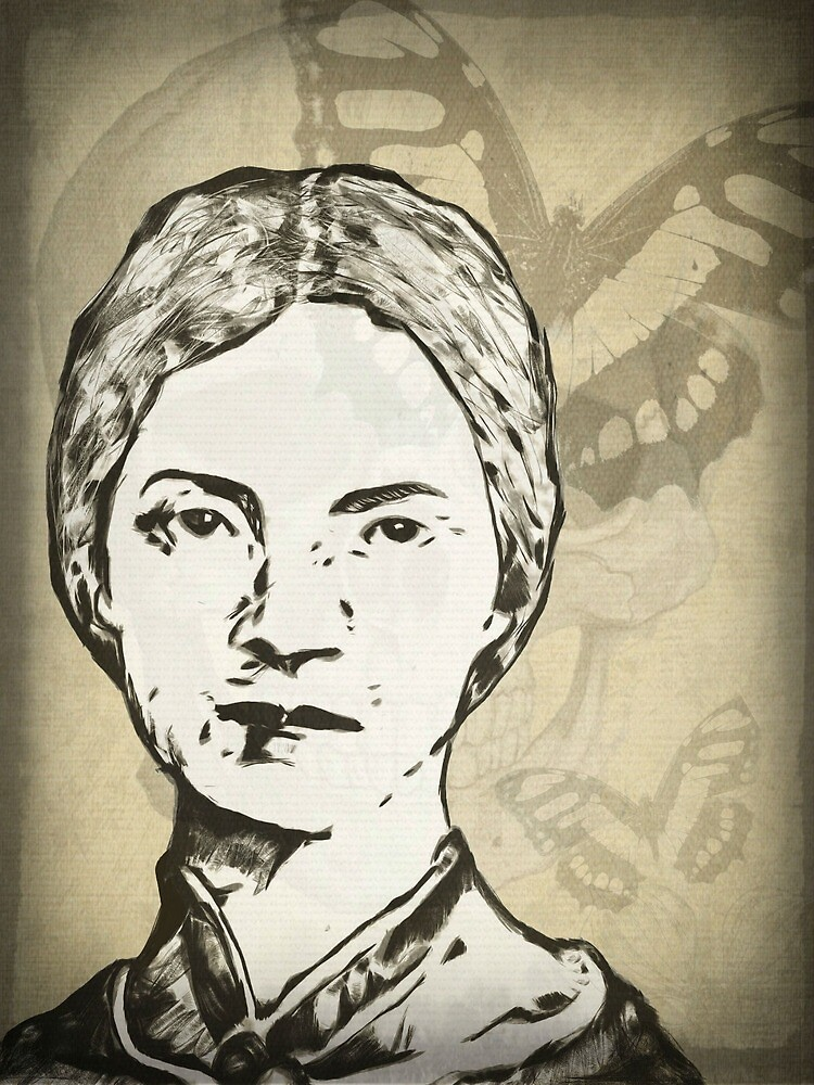 Emily Dickinson Digital Art Design by Sarah Zinkann