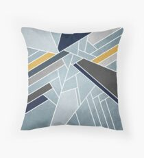 Soft silver/blue/navy/gold Throw Pillow