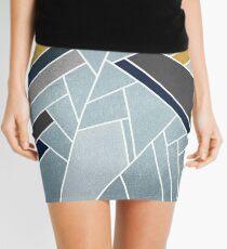 Soft silver/blue/navy/gold Mini Skirt