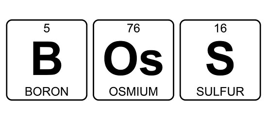 B Os S Boss Periodic Table Chemistry Posters By Jenny Zhang