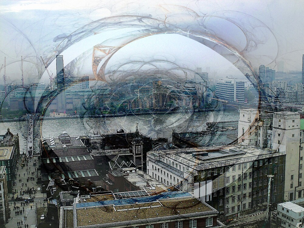 Swirling London Town by Benedikt Amrhein