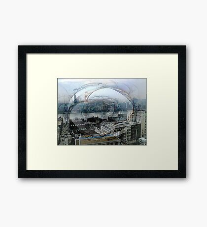 Swirling London Town Framed Print