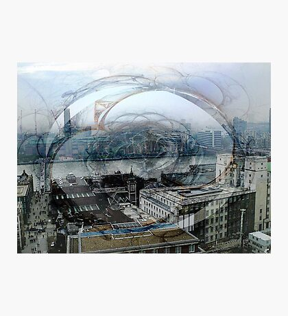 Swirling London Town Photographic Print