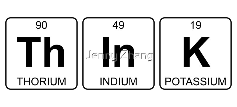 Th In K Think Periodic Table Chemistry Stickers By Jenny