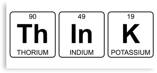 Th in k think periodic table chemistry canvas prints by jenny th in k think periodic table chemistry by jenny zhang urtaz Gallery