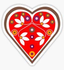 Folk heart 1 centre Sticker