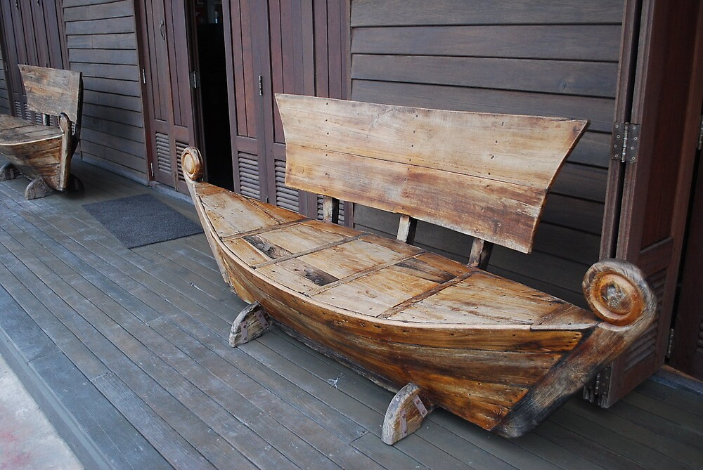 Seating in front of shop  by Sherion