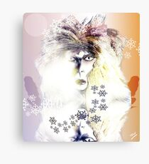 Winter Ice Maiden Pencil Sketch Canvas Print