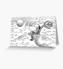 Occupy Solitude editorial cartoon Greeting Card