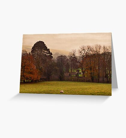 Mist Over Pendle Greeting Card