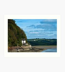 The Boat House at Laugharne Carmarthenshire Art Print