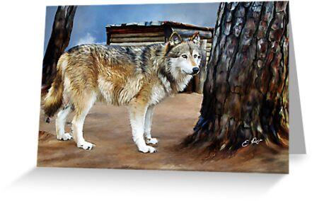 The Spirit of the Wolf by ellenspaintings