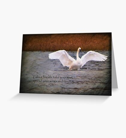 Spread Your Wings and Rise Greeting Card