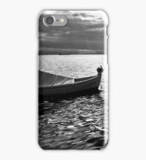 BOAT SEA SUNLIGHT AND HARBOR VINTAGE RETRO iPhone Case/Skin