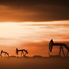 Pump Jacks at Sunset by Angela E.L. Clements