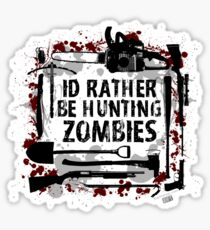 Hunting Zombies Sticker