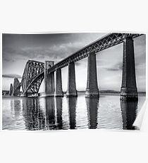 Forth Bridge Mono Poster