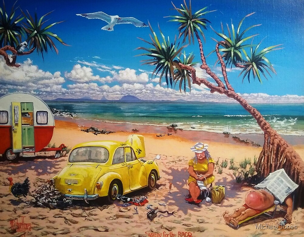 Waiting for the RACQ by Michael Jones