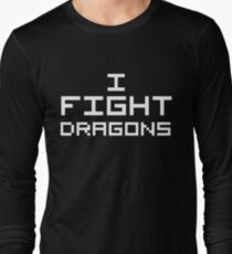 I Fight Dragons (Reversed Colours) Long Sleeve T-Shirt