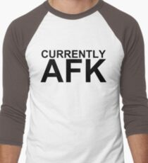 Currently AFK Men's Baseball ¾ T-Shirt