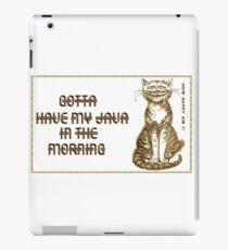 Cuppa Java Cat iPad Case/Skin