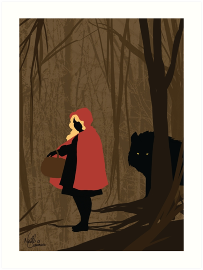 Liltte Red Riding Hood and the Wolf by GannucciArt