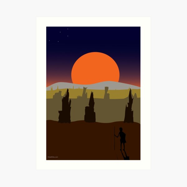 Desert Nights Art Print