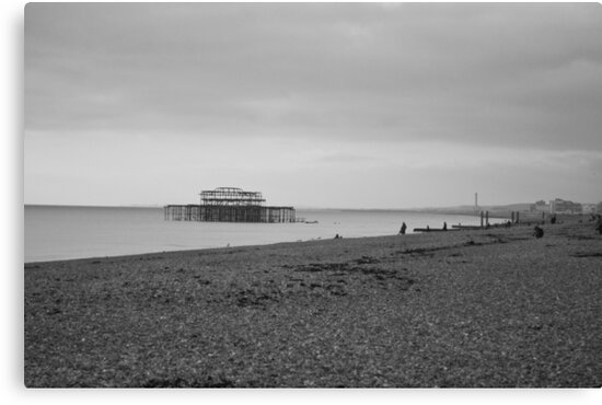 West Pier Ruins by Andy Broomfield